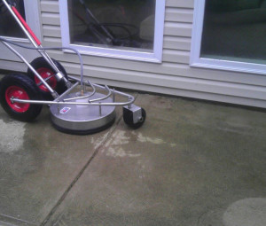patio power washing before